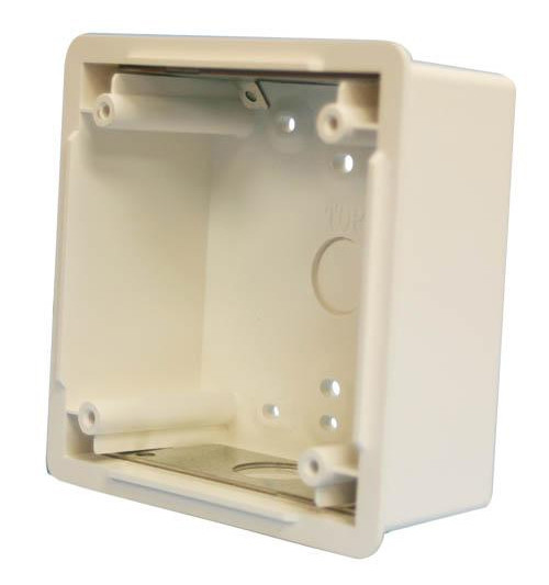 White Waterproof Back Box for Mounting Horn Strobes