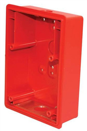 Red Surface Backbox For E50 Speaker/Strobe