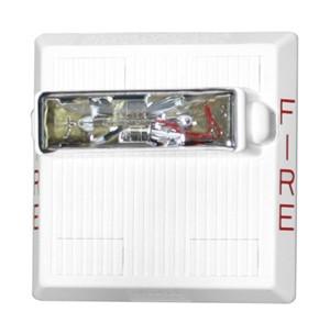 White Multitone Electronic Horn Strobe  24 VDC 15/30/75/110