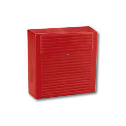 Wheelock AH-24WP-R Red Weather proof fire alarm horn