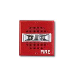 Pair Wheelock Wall Mount Fire Alarm Speaker Strobe E-70-lsm-24 25//70 VRMS for sale online