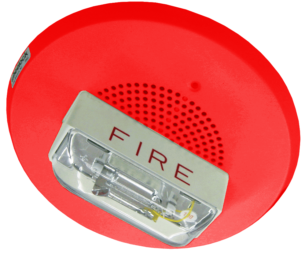 Wheelock E90-24MCC-FR Red Ceiling Mount Speaker Strobe