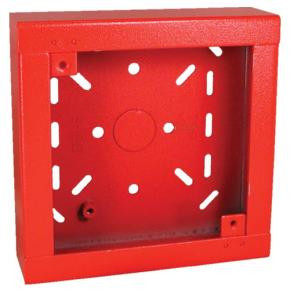 Red Surface Backbox For Speakers, Chimes, And Electronic Applications