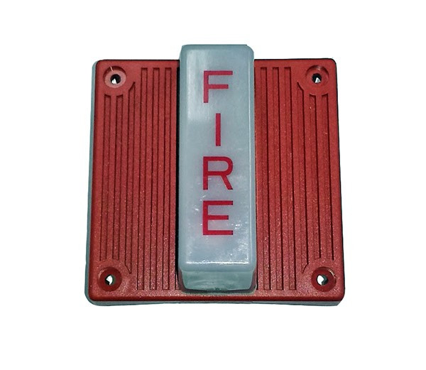 Red Fire Lettering Multitone Electronic Horn Strobe 115VAC
