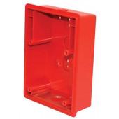 Red Surface Backbox For E50 Speaker/Strobe