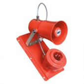 MEDC- Explosion Proof Strobe, Clear lens, Red finish 24VDC