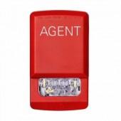 ELSTR-A ELUXA Wall Fire Alarm Strobe Light 24V (AGENT Lettering) by EATON