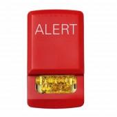 ELSTR-ALA ELUXA Wall Fire Alarm Amber Strobe Light 24V (ALERT Lettering) by EATON