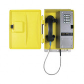 TWeatherproof Telephone with Metal Keypad and Armored Cord WRT-40-H