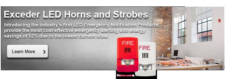 Exeder LED Horns and Strobes